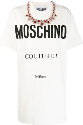 Moschino printed logo T-shirt dress