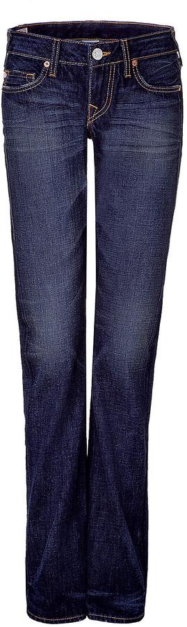 True Religion Straight Leg Blue Jeans