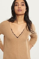 Dynamite V-Neck Sweater with Lace