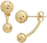 Lord & Taylor 14K Yellow Gold Ball Ear Jackets