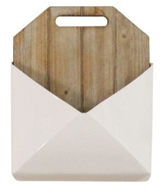 Stratton Home Decor Wood and Metal Wall Mailbox