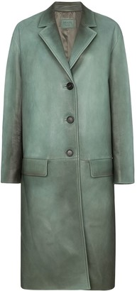 Prada Napa leather coat with rear belt
