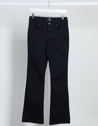Vero Moda slim flare jeans in black