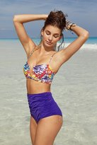 Out From Under Printed Bandeau Bikini Top