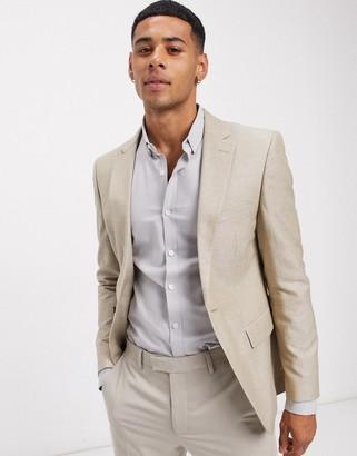 Rudie linen slim fit suit jacket