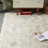 west elm Pieced + Patched Cowhide Rug - Chevron