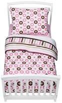 Bacati Toddler Bedding Set - Pink/Chocolate Mod Dots