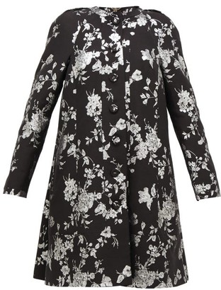 Erdem Kerianne Single-breasted Cotton-blend Brocade Coat - Black Silver