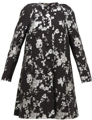 Erdem Kerianne Single-breasted Cotton-blend Brocade Coat - Womens - Black Silver