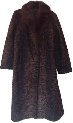 Astrakhan Non Signe / Unsigned Brown Coat for Women Vintage
