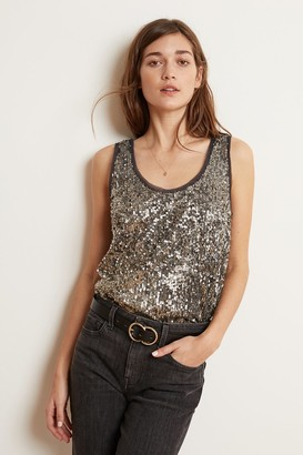 Velvet by Graham & Spencer Leyla Antique Sequins Sleeveless Top