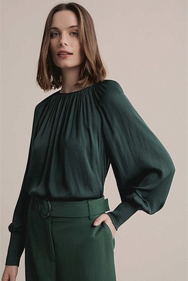 Witchery Gathered Neck Blouse
