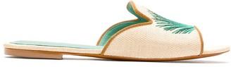 Blue Bird Shoes Palmeira straw slides