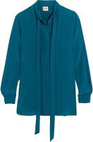 Tod's Pleated silk crepe de chine shirt