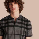Burberry Check Stretch Cotton Polo Shirt