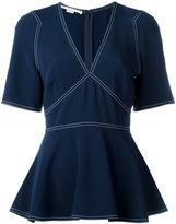 Stella McCartney contrast stitch kimono blouse