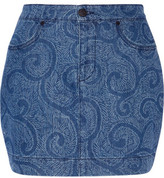 Sibling Printed Denim Mini Skirt
