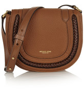 Michael Kors Skorpios Small Textured-leather Shoulder Bag - Tan