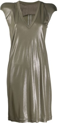 Rick Owens V-Neck Shimmer Dress