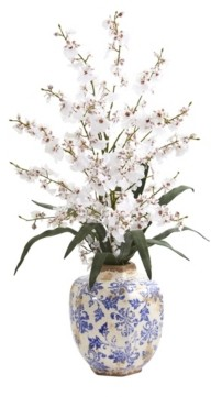 Nearly Natural 28in. Dancing Lady Orchid Artificial Arrangement in Decorative Vase