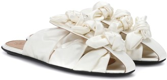 The Row Capri Bow satin sandals