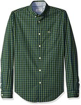 Lacoste Men's Seg 1 Long Sleeve Gingham Check