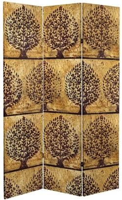 Oriental Furniture 6 ft. Tall Gold Leaf Orchard Canvas Room Divider