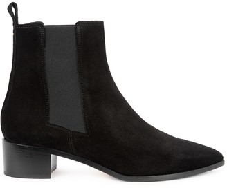 Aeyde AEYDE Lou 40 Black Suede Chelsea Boots