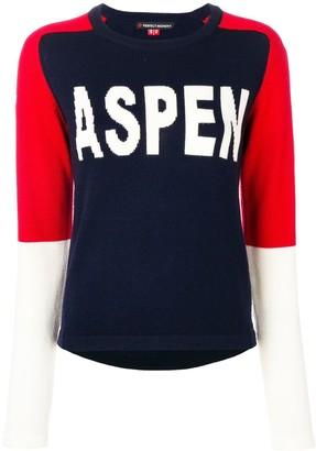 Perfect Moment Aspen intarsia-knit jumper