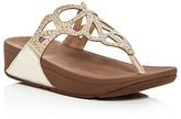 FitFlop Bumble Crystal Embellished Platform Thong Sandals