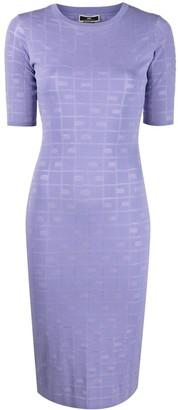 Elisabetta Franchi Knitted-Motif Dress