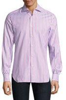 Kiton Striped Button-Down Shirt
