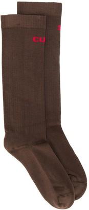 Rick Owens Intarsia Knitted Socks