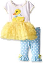 Bonnie Baby Baby Ducky Appliqued Playwear Set