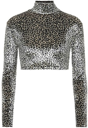 Vetements Leopard-print crop top