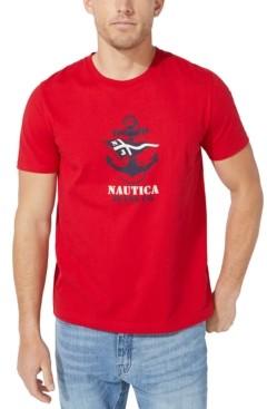 Nautica Jeans Co. Men's Anchor & Flag Graphic T-Shirt