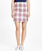 Brooks Brothers Cotton Large Plaid Skirt