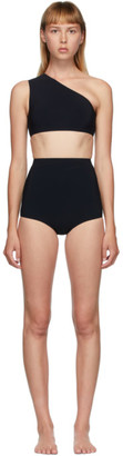 Bottega Veneta Black One-Shoulder Bikini