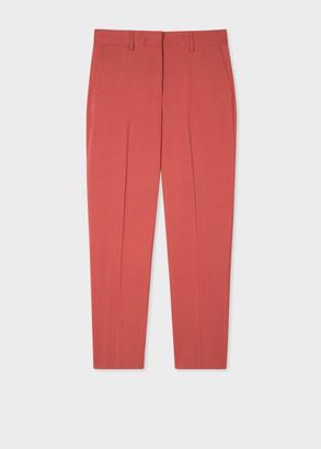 Paul Smith Women's Slim-Fit Rust Wool-Mohair Trousers