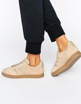 adidas Beige Gazelle Sneakers With Gum Sole