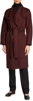 Vince Drape Front Wool-Cashmere Coat