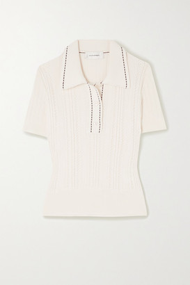 Wales Bonner Pointelle-knit Cotton Polo Shirt - Ivory