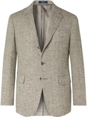 Polo Ralph Lauren Grey Herringbone Wool Blazer