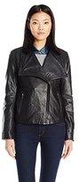 BB Dakota Women's Petite Newell Leather Jacket
