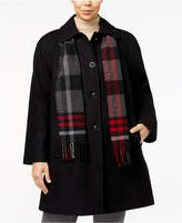 London Fog Plus Size Walker Coat with Scarf