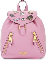 Moschino Badges leather backpack