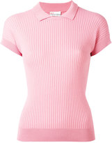 RED Valentino ribbed polo shirt - women - Polyamide/Viscose - M