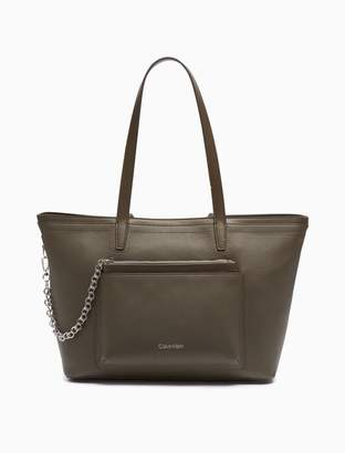 Calvin Klein Pebble Chainlink Tote Bag