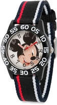 Disney Mickey Mouse Striped Time Teacher Watch - Kids