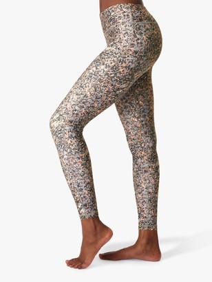 Sweaty Betty All Day Gym Leggings, Grey Pebble Print